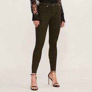 Good Legs raw-edge slim-fit high-rise jeans